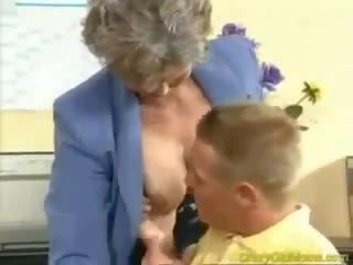 Crazy Old Mom Gets manhood Fucked in the Office