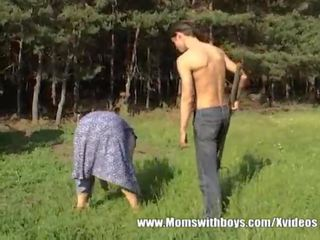 Granny With Huge Ass Gets guy Hard